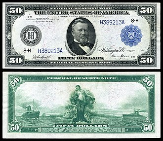 United States fifty-dollar bill - 1914 Federal Reserve Note