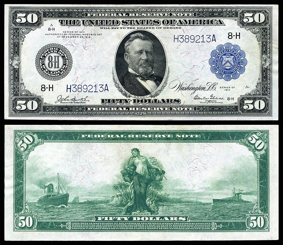 US-$50-FRN-1914-Fr-1053