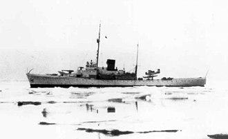 USCGC Duane - USCGC Duane (WPG-33) off Greenland in 1940