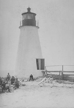 Back River Light - Undated photograph of Back River Light, Virginia (USCG)