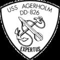 USS Agerholm (DD-826) insignia, circa 1967.png