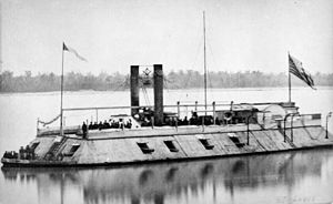 Battle of Lucas Bend - The USS Baron DeKalb, previously the USS St Louis, had been commissioned just days before engagement.