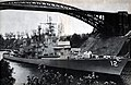 USS Dahlgren (DLG-12) under Levensauer Bridge in Kiel Canal 1962.jpg