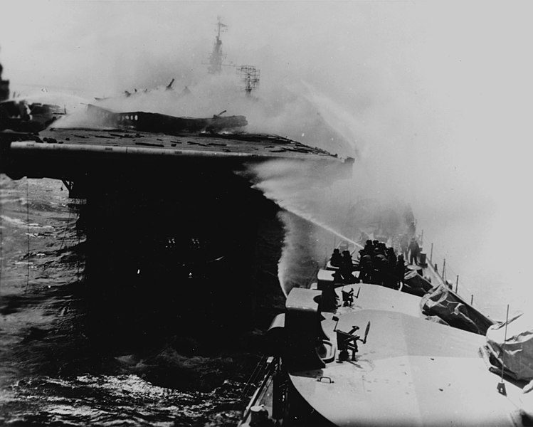 File:USS Reno fighting fires on USS Princeton.jpg