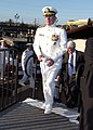 US Navy 050521-N-1577S-022 Chief of Naval Operations Adm. Vern Clark arrives for the christening ceremony of Military Sealift Command (MSC) auxiliary dry cargo carrier USNS Lewis and Clark.jpg