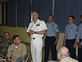 US Navy 050810-N-7723L-006 Chief of Naval Reserve, Vice Adm. John Cotton, speaks to the Sailors and officers at Navy Reserve Center Cleveland.jpg