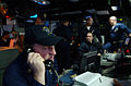 US Navy 060111-N-5549O-021 Senior Chief Fire Controlman Paul Mary communicates with the guided missile destroyer USS Decatur (DDG 73).jpg