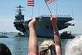 US Navy 060524-N-5055G-028 Families and friends greet Sailors aboard USS George Washington (CVN 73).jpg