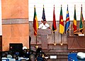US Navy 061113-N-2893B-001 Director of Strategy and Policy for Commander, U.S. Naval Forces Europe (CNE), Rear Adm. Phil Greene, delivers welcoming remarks at the Maritime Safety and Security at the Gulf of Guinea Ministerial C.jpg