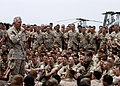 US Navy 070404-N-1512O-253 Commandant of the Marine Corps Gen. James T. Conway speaks with Marines and Sailors from the 26th Marine Expeditionary Unit (MEU) aboard the multi-purpose amphibious assault ship USS Bataan (LHD 5).jpg