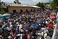 US Navy 090622-N-6259S-002 A crowd waits to enter a medical clinic at the Jose Pantoja Hija schoolhouse in La Union, El Salvador, to receive treatment from the medical staff of the Military Sealift Command hospital ship USNS Co.jpg