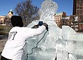 US Navy 091231-N-4267D-002 Chef and ice sculptor Anthony Pacitto prepares an ice sculpture for Boston's First Night celebration.jpg
