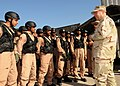 US Navy 100110-N-0803S-001 Rear Adm. Thomas Cropper congratulates United Arab Emirates soldiers on their completion of a U.S. Coast Guard visit, board, search and seizure course.jpg