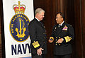 US Navy 100929-N-8273J-031 Chief of Naval Operations (CNO) Adm. Gary Roughead, left, speaks with Adm. Tan Sri Abdul Aziz Jafaar during the 12th Wes.jpg