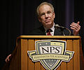 US Navy 101005-D-1825C-001 Roger Staubach shares his life experiences and leadership lessons during a the Secretary of the Navy Guest Lecture Serie.jpg