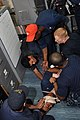 US Navy 101112-N-7293M-126 Sailors aboard USS Ponce (LPD 15) conduct a medical training exercise.jpg