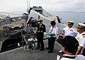 US Navy 111112-N-WJ771-067 Cmdr. Carol McKenzie, commanding officer of the forward-deployed amphibious dock landing ship USS Germantown (LSD 42), d.jpg