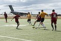 US Navy Sailors and the People's Liberation Army Navy Midshipmen play soccer match 151013-N-WC566-003.jpg