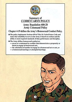 homosexuality in the army Essay arguing against lifting ban on military service by open the military's ban against homosexuals should remain of known, open, practicing homosexuals disruptive to the good order and discipline of military units thus rendering homosexuality incompatible with military service.