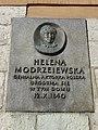 UlicaGrodzka22-TablicaUpamiętniającaNarodzinyHelenyModrzejewskiej-POL, Kraków.jpg