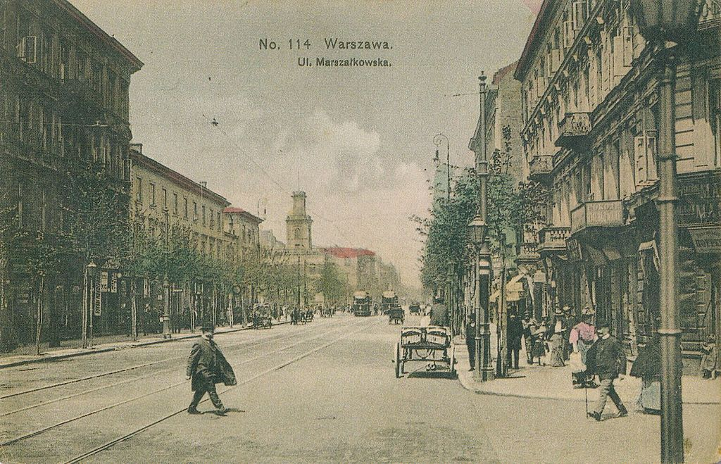 Rue Marszalkowska à Varsovie vers 1910.