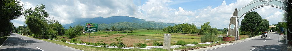View of the Caraballo mountains from Umingan