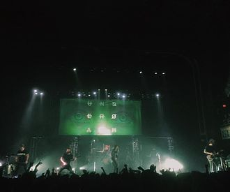 Underoath - Underoath performing at The Tabernacle in Atlanta, Georgia on April 23, 2016