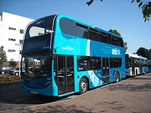 Unilink Enviro 400 on stand at University Interchange.JPG