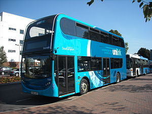 Unilink - One of the double-deck Alexander Dennis Enviro400 buses used on Unilink services.