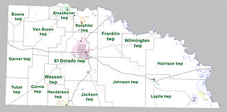 Union County, Arkansas - Townships in Union County, Arkansas as of 2010