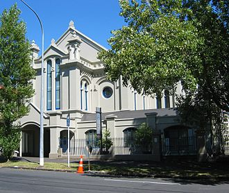 University of Auckland - University House, a former synagogue, leased by the University