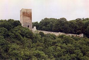 Die Burg vom Ort aus gesehen (2005)