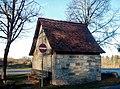 """Unterstellhäuschen Stellenhäusle, Erbaut 17. oder 18. Jahrhundert, in dem Güterbuch von 1869 ist von """"der alten Viehstelle"""" die Rede. - panoramio.jpg"""