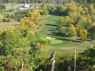 Fennell Avenue (Hamilton, Ontario) - View of King's Forest Golf Course from Upper King's Forest Park