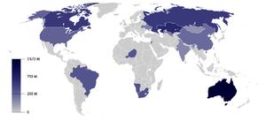 Riserve di uranio nel mondo
