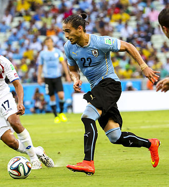 Martín Cáceres - Cáceres in action at the 2014 World Cup