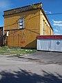 Vágóhíd Street yellow ceramic building, 2017 Tatabánya.jpg