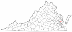 Location of Gloucester Courthouse, Virginia