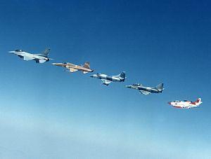 VF-126 - VF-126 F-16N, F-5E, A-4E, TA-4J and T-2C in 1987