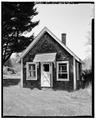 VIEW NORTHWEST, FRONT. - Parsons Nursery, Nursery Office, South side of U.S. Route 219, Parsons, Tucker County, WV HABS WVA,47-PARS.V,1D-1.tif
