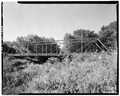 VIEW OF BRIDGE, LOOKING NORTH FROM WEST BANK - Delray Bridge, Spanning Spring Creek, Delrey, Iroquois County, IL HAER ILL,38-DEL,1-2.tif