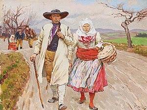 Moravians - Moravians, painting by Václav Malý