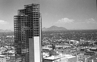 Valley National Bank of Arizona - Valley Center under construction, 1972