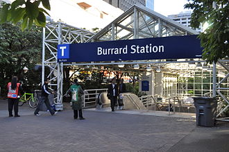 Burrard station - Street level entrance on Burrard Street