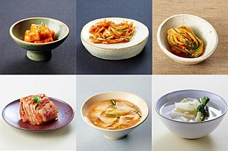 <i>Kimchi</i> Traditional Korean side dish of salted and fermented vegetables