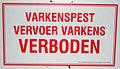 Varkenspest sign.jpg