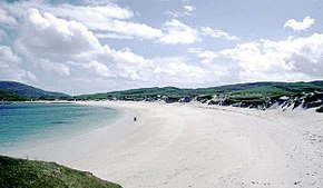 Stranda i Vatersay Bay  Foto: Peter Ward