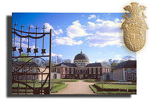 Veltrusy Mansion - Veltrusy Mansion, shown with the arms of the Chotek family