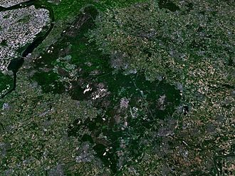 Veluwe - The Veluwe area as seen from space