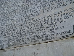Vergil tomb inscription